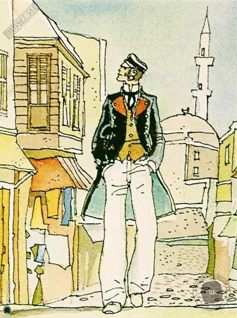 Affiche BD Corto Maltese de Hugo Pratt 'Samarcanda' - Illustrose