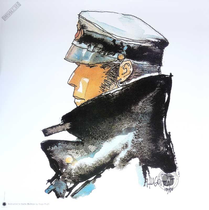 Affiche BD Corto Maltese de Hugo Pratt 'Dedicated' - Illustrose