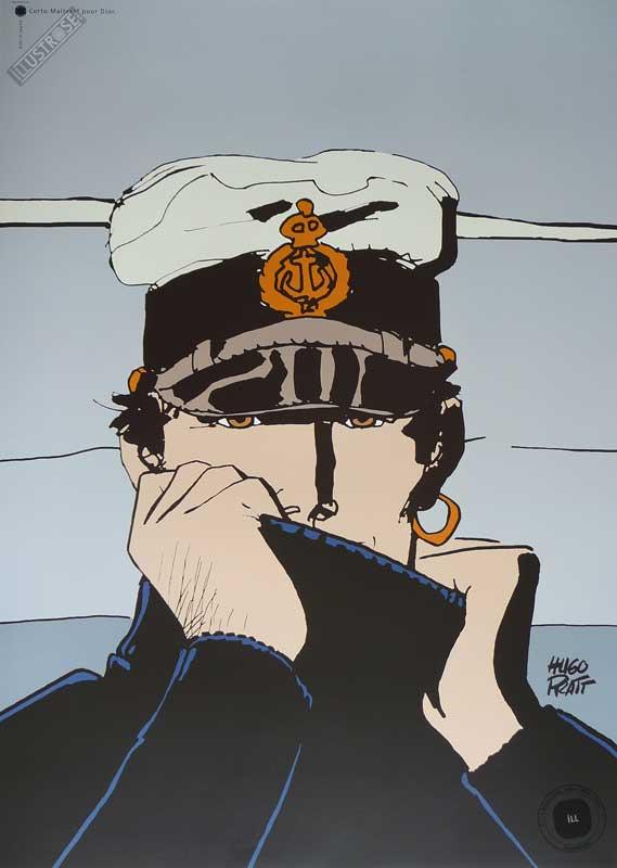 Affiche BD Corto Maltese de Hugo Pratt 'Dior gris' - Illustrose