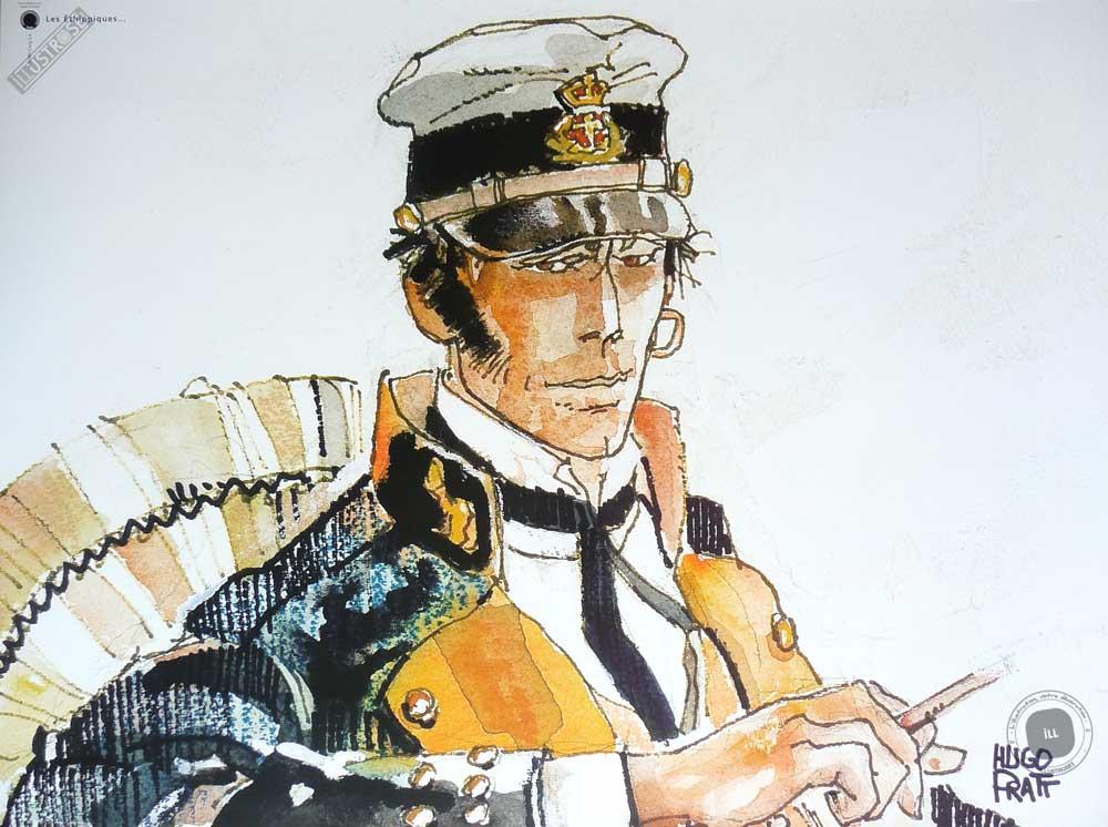 Affiche BD Corto Maltese de Hugo Pratt 'Les éthiopiques' - Illustrose