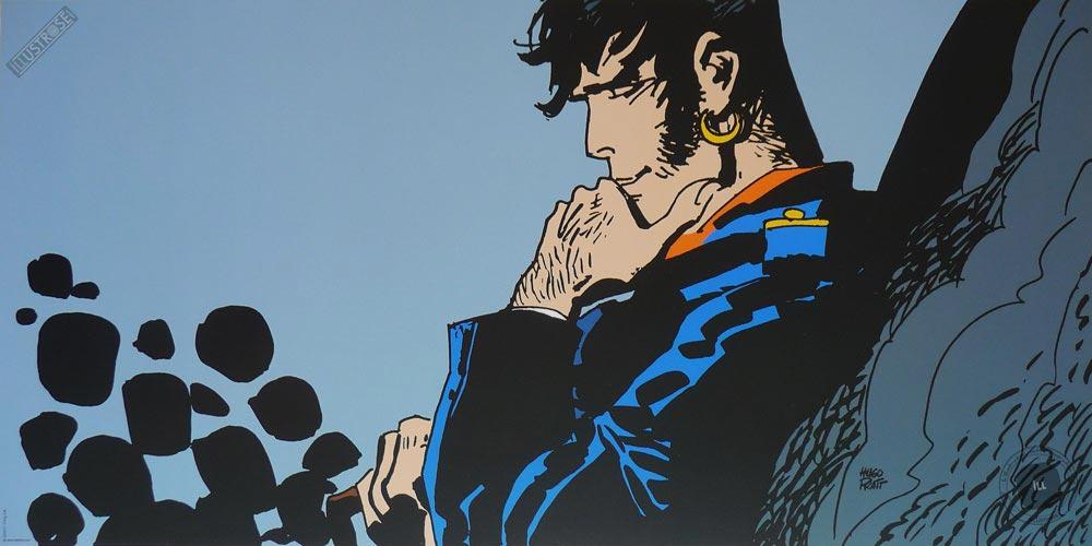 Affiche BD Corto Maltese de Hugo Pratt 'Héros, moi' - Illustrose