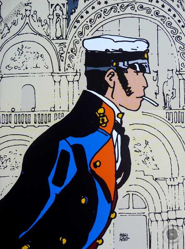 Affiche BD Corto Maltese de Hugo Pratt 'Histoire' - Illustrose