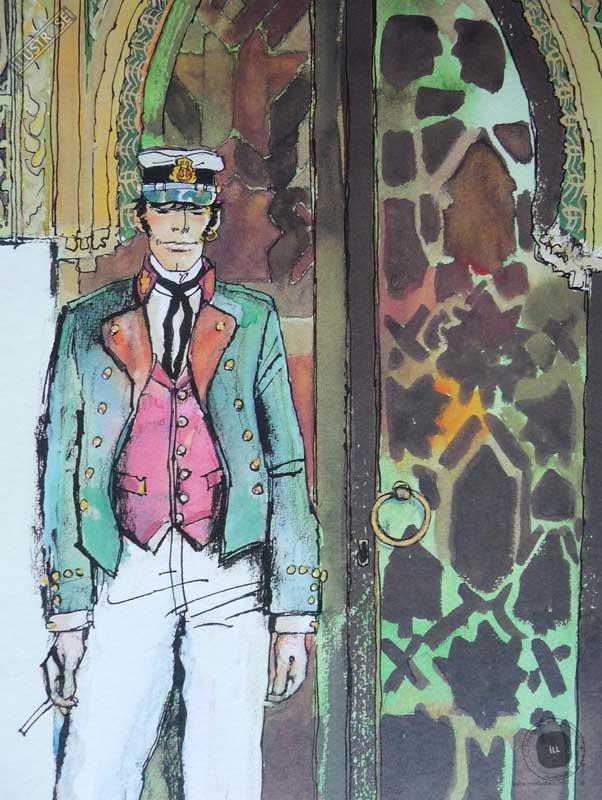 Affiche BD Corto Maltese de Hugo Pratt 'Mauresque' - Illustrose