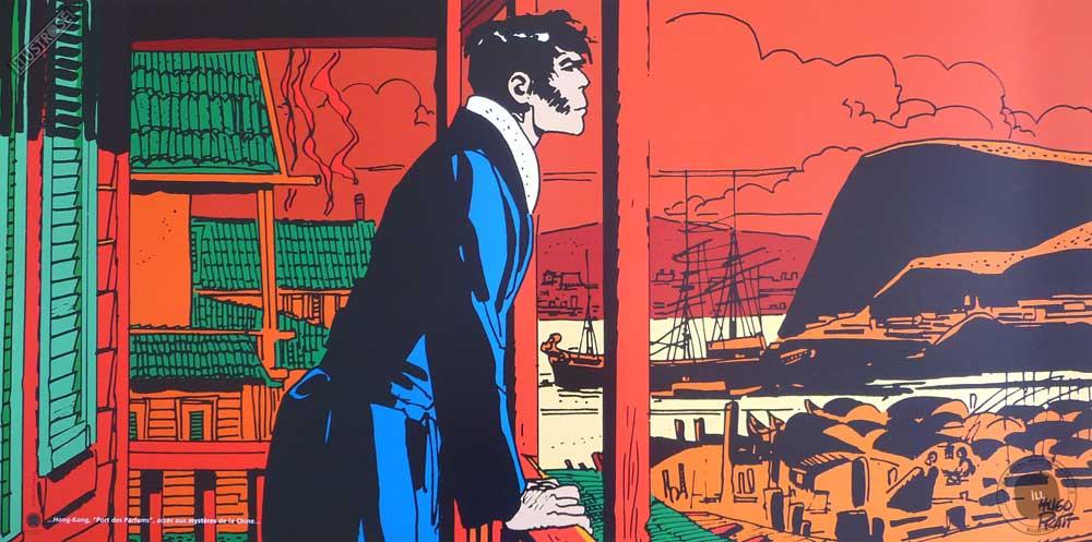 Affiche BD Corto Maltese de Hugo Pratt 'Mystères' - Illustrose