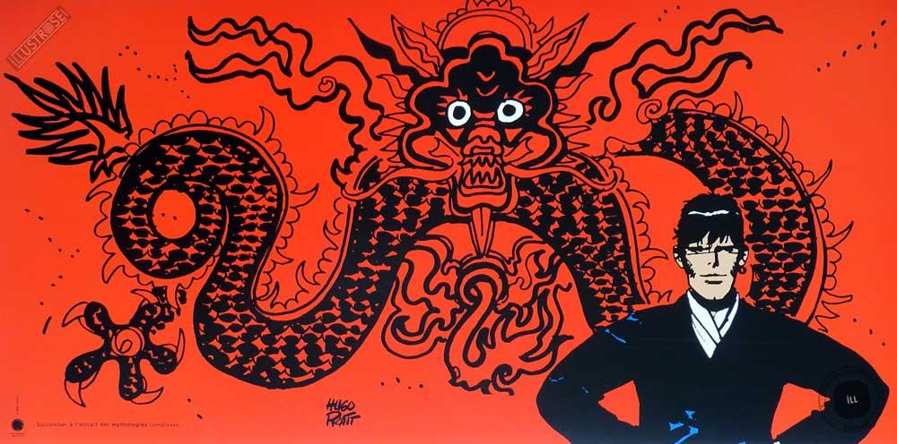 Affiche BD Corto Maltese de Hugo Pratt 'Mythologie' - Illustrose