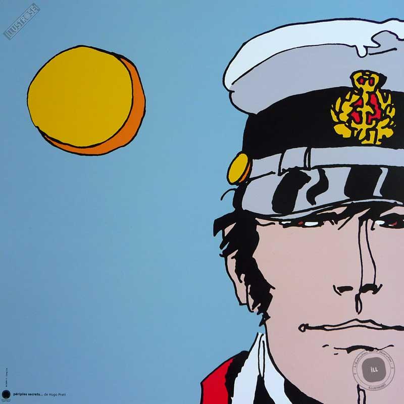 Affiche BD Corto Maltese de Hugo Pratt 'Périples secrets' - Illustrose