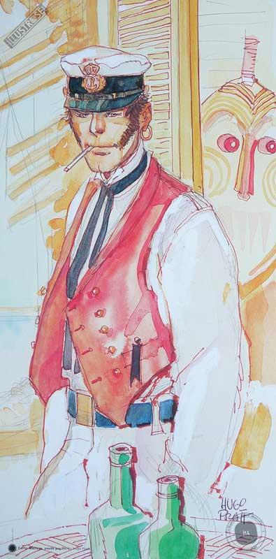 Affiche BD Corto Maltese de Hugo Pratt 'South pacific' - Illustrose