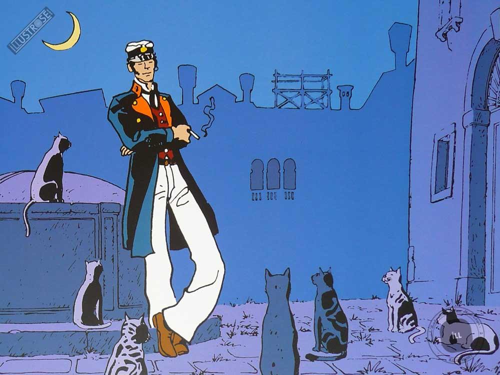 Affiche BD Corto Maltese de Hugo Pratt 'Corto théâtre' - Illustrose
