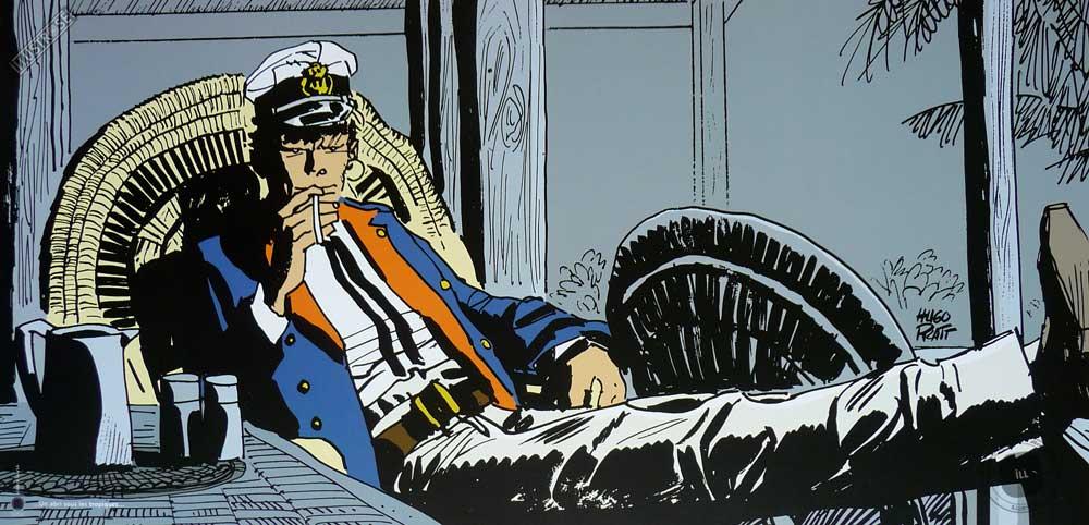Affiche BD Corto Maltese de Hugo Pratt 'Tropique' - Illustrose
