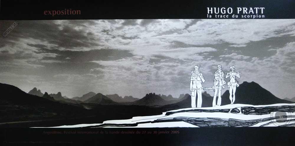 Affiche BD Les scorpions du désert de Hugo Pratt 'Sur la trace' - Illustrose