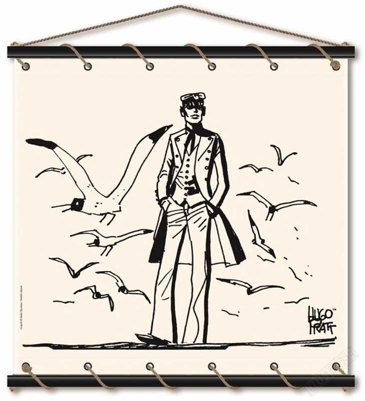 Toile décorative BD Corto Maltese 'Mer du Nord' - Illustrose