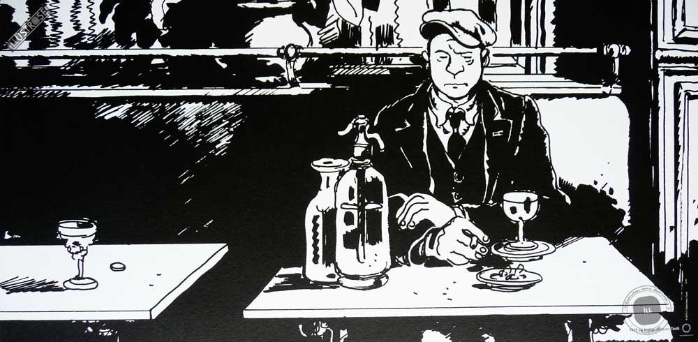 Affiche BD de Jacques Tardi '1915 au Bistrot' - Illustrose