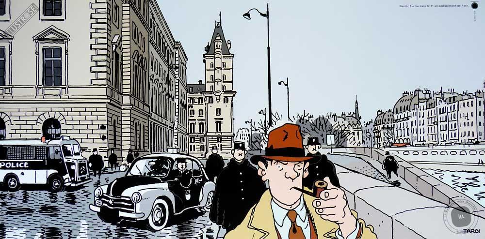 Affiche BD Nestor Burma de Tardi '1er arr. de Paris' - Illustrose