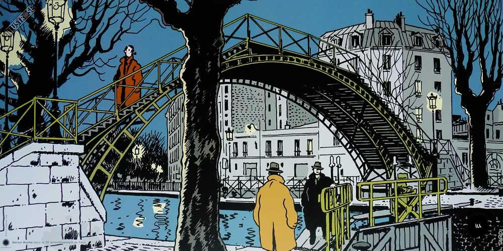Affiche BD Nestor Burma de Tardi '10è arr. de Paris' - Illustrose