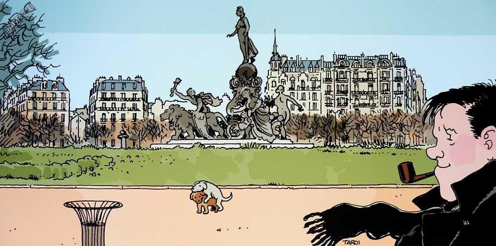 Affiche BD Nestor Burma de Tardi '11è arr. de Paris' - Illustrose