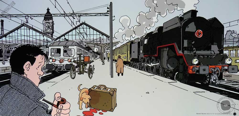 Affiche BD Nestor Burma de Tardi '12è arr. de Paris' - Illustrose