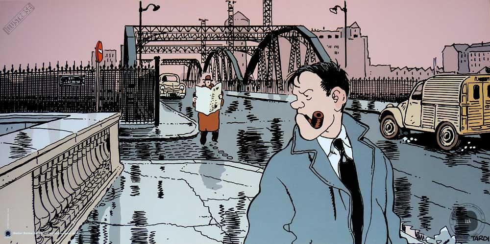 Affiche BD Nestor Burma de Tardi '13è arr. de Paris' - Illustrose
