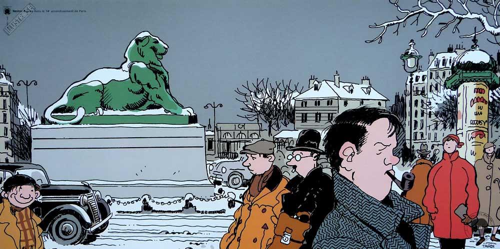 Affiche BD Nestor Burma de Tardi '14è arr. de Paris' - Illustrose