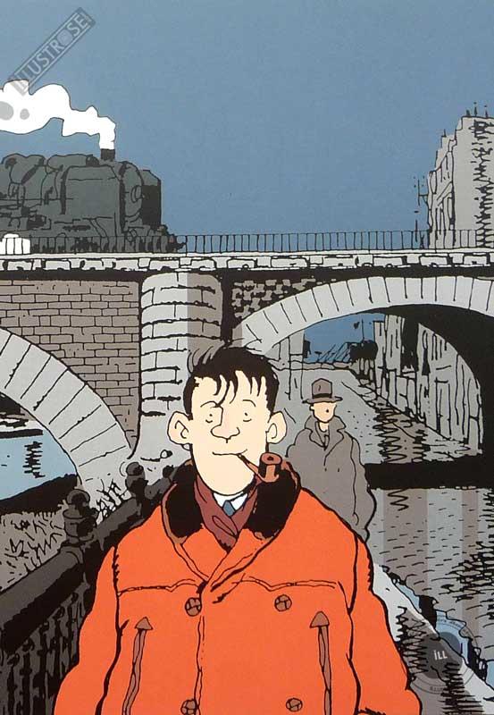 Affiche BD Nestor Burma de Tardi '19è arr. de Paris' - Illustrose