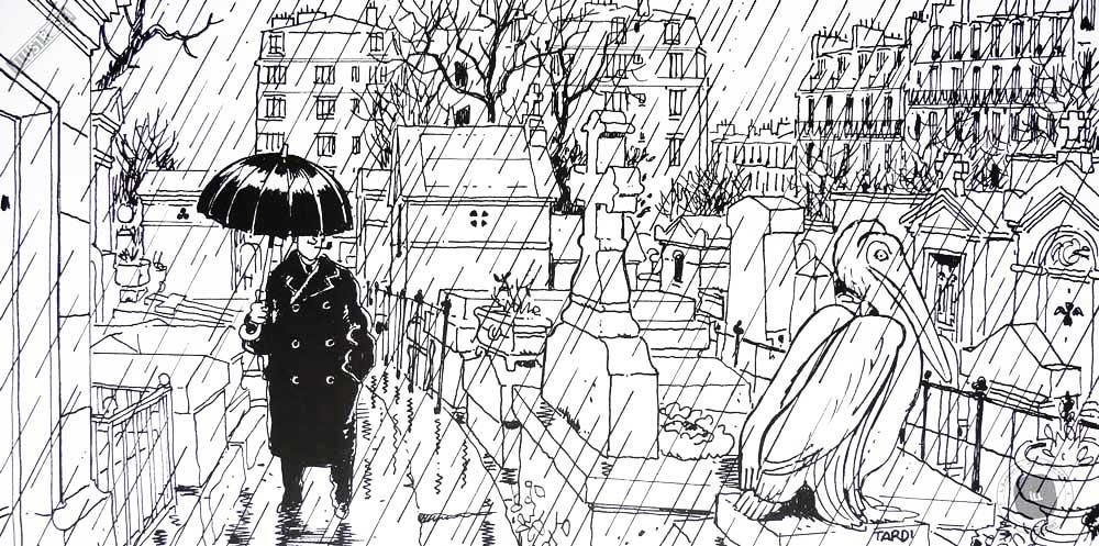 Affiche BD Nestor Burma de Tardi '20è arr. de Paris' - Illustrose