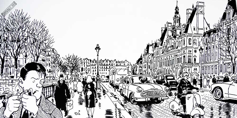 Affiche BD Nestor Burma de Tardi '4è arr. de Paris' - Illustrose