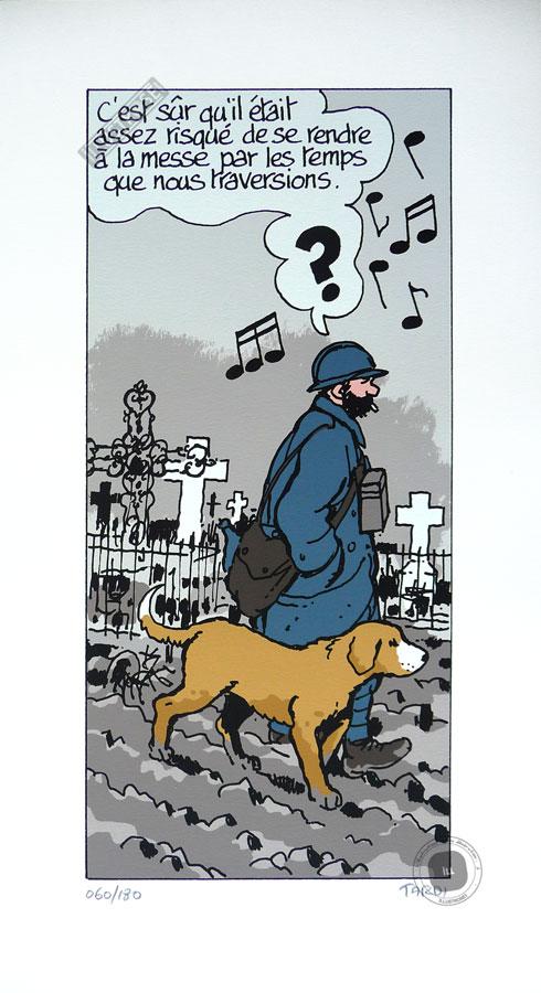 Sérigraphie BD 'Putain de guerre, le dernier assaut' - Illustrose