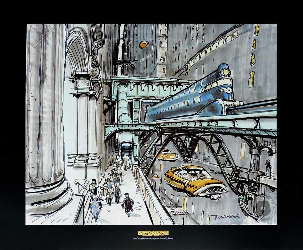 Illustration Le cinquième élément Mézières 'Taxi' - Illustrose