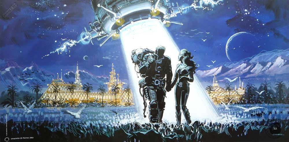 Affiche J-C.Mézières festival 'Utopiales Nantes 2002' - Illustrose