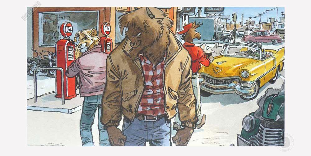 Affiche BD Blacksad de Guarnido 'Abe and Chad' - Illustrose