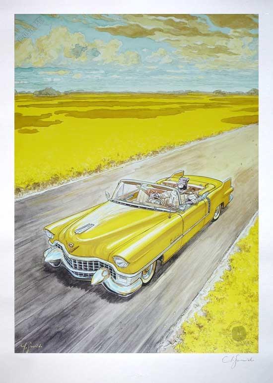 Affiche BD Blacksad de Guarnido 'Amarillo' signée - Illustrose