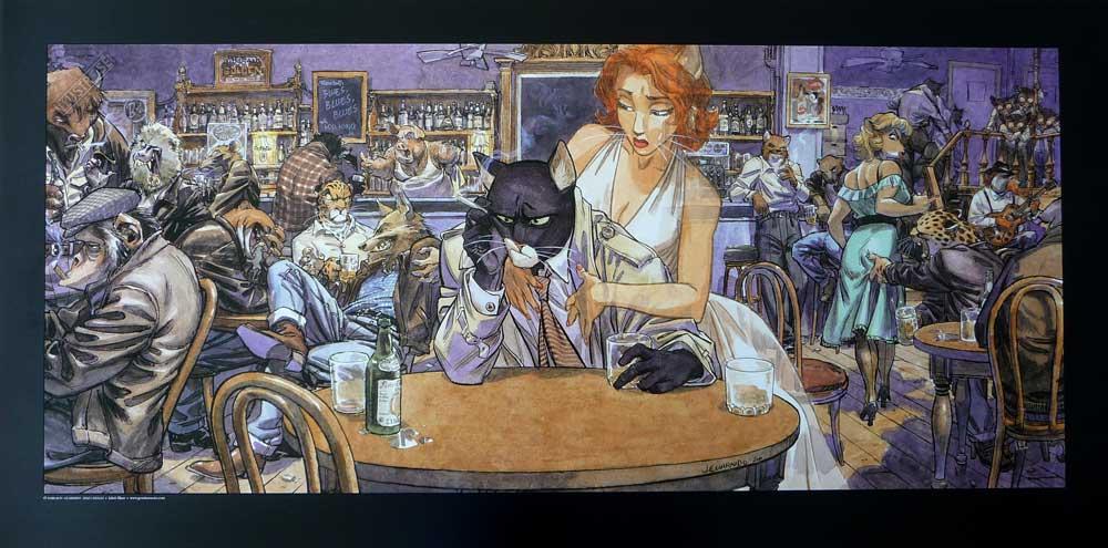 Affiche BD Blacksad de Guarnido 'John's blues' - Illustrose