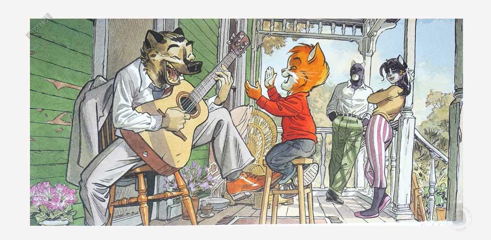 Affiche BD Blacksad de Guarnido 'John's family' - Illustrose