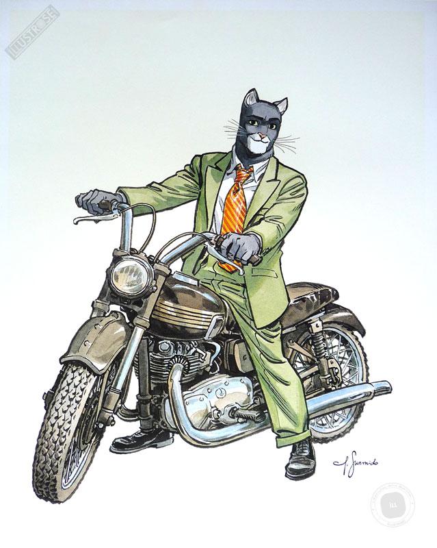Affiche BD Blacksad de Guarnido 'John's Triumph' - Illustrose