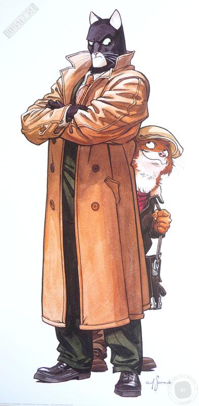 Affiche BD Blacksad de Guarnido 'John et Weekly' - Illustrose