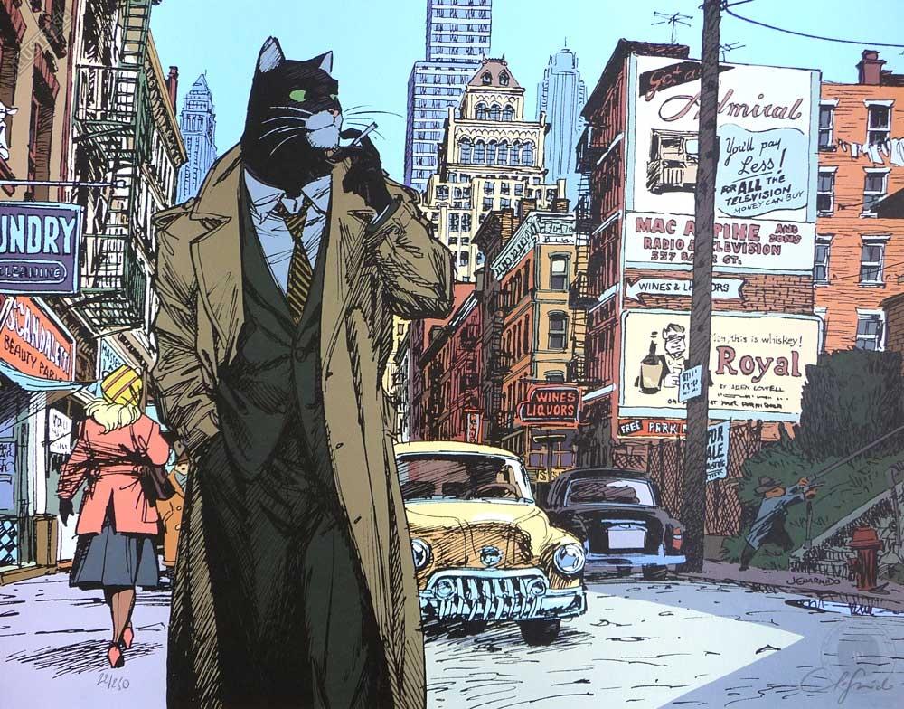 Affiche BD Blacksad de Guarnido 'New York' - Illustrose