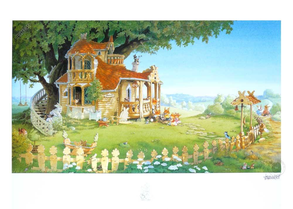 Affiche jeunesse Loïc Jouannigot 'La famille passiflore 1' - Illustrose