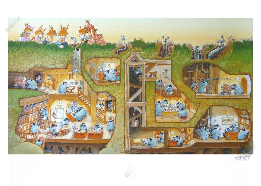 Affiche jeunesse Loïc Jouannigot 'La famille passiflore 2' - Illustrose