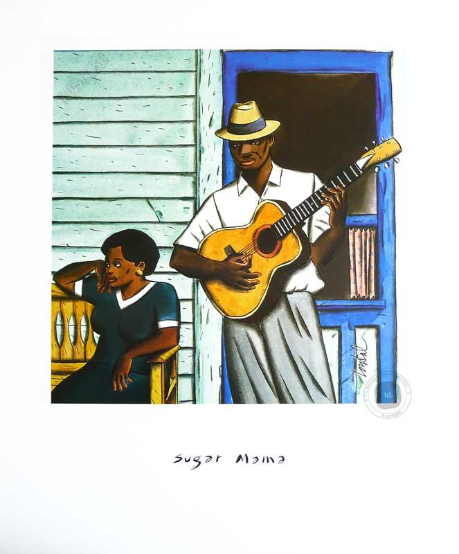 Affiche d'art illustration de Loustal 'Sugar mama' - Illustrose
