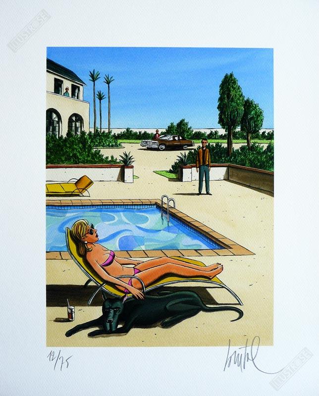 Estampe illustration de Loustal 'Black-Dog' - Illustrose