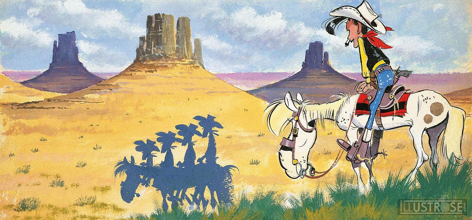 Toile BD décorative Lucky Luke de Morris 'Canyon' - Illustrose