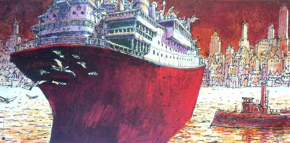 Affiche d'art Nicolas De Crécy 'New-York sur Loire' - Illustrose