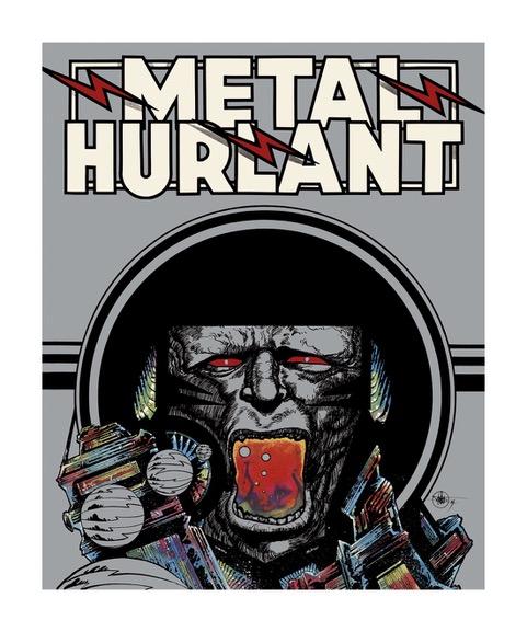 Estampe pigmentaire Philippe Druillet 'Métal Hurlant' - Illustrose