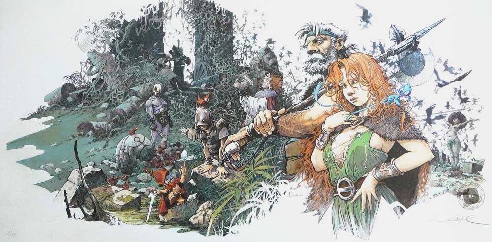 Affiche BD signée R.Loisel 'La quête de l'oiseau du temps' - Illustrose
