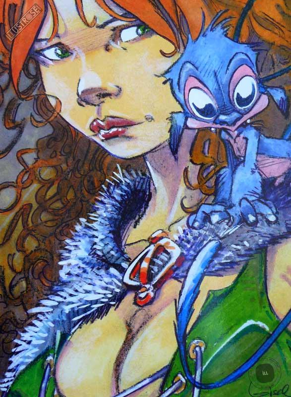 Affiche bd La quête de l'oiseau du temps, R.Loisel 'Pélisse 4' - Illustrose