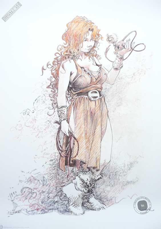 Affiche bd La quête de l'oiseau du temps, R.Loisel 'Pélisse 5' - Illustrose