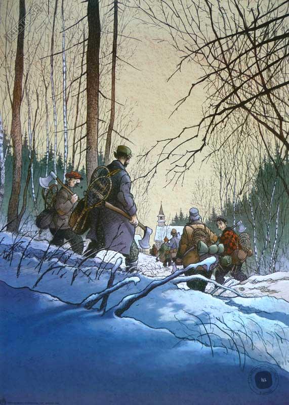 Affiche BD Magasin général de Loisel 'Les hommes' - Illustrose