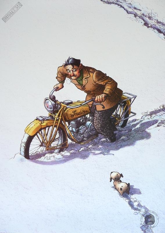 Affiche BD Magasin général de R.Loisel 'Serge' - Illustrose