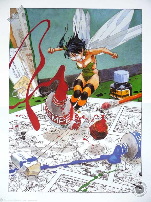 Affiche BD Peter Pan de R.Loisel 'Clochette 3' - Illustrose