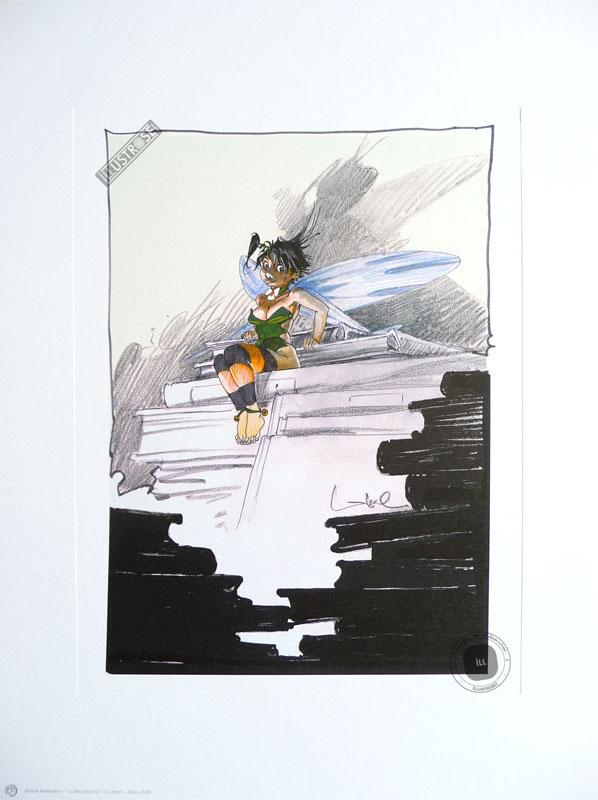 Affiche BD Peter Pan de R.Loisel 'Clochette la bibliothèque' - Illustrose