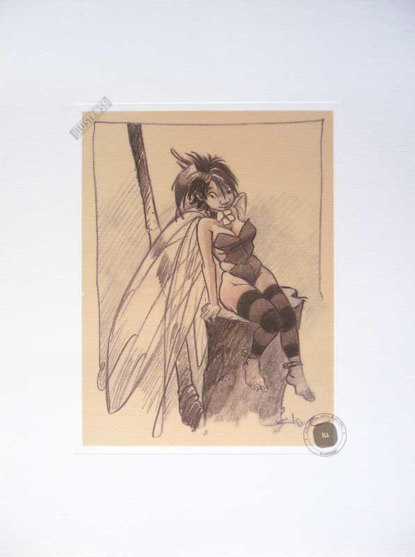 Affiche BD Peter Pan de R.Loisel 'Fée N°1' - Illustrose